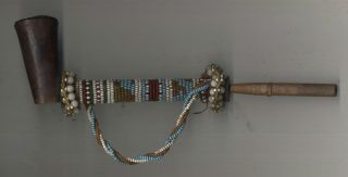 Fine Old Zulu Beaded Pipe photo