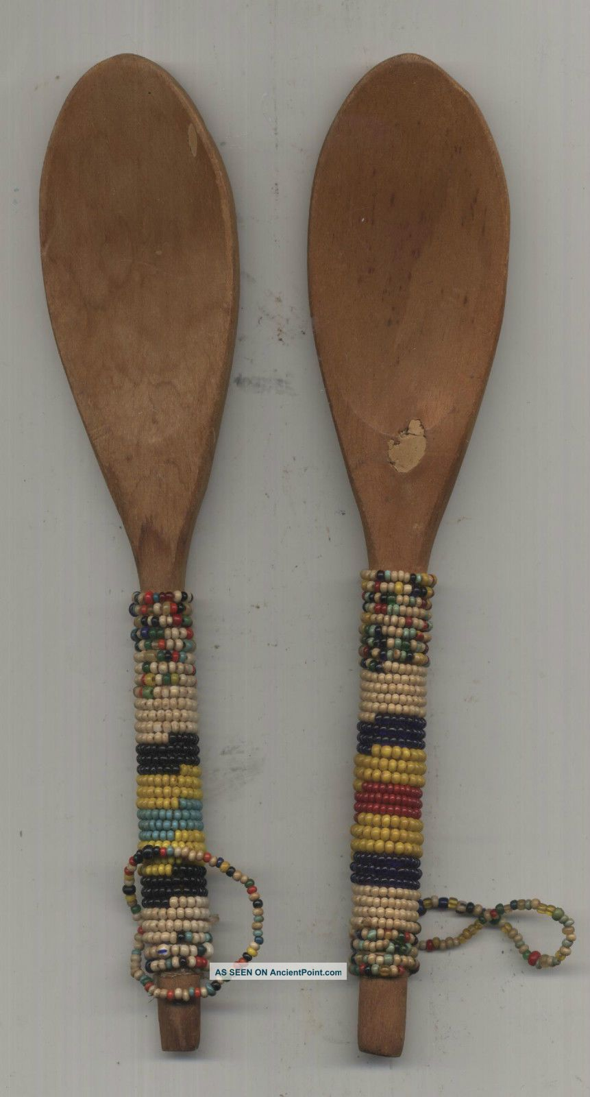 Two Old Zulu Beaded Spoons Other photo
