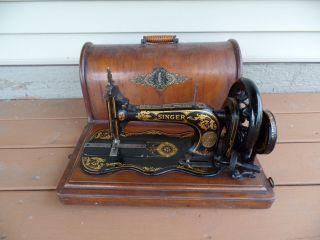 Antique Singer 12k Fiddlebase Hand Crank Sewing Machine C.  1874 - 1885 photo