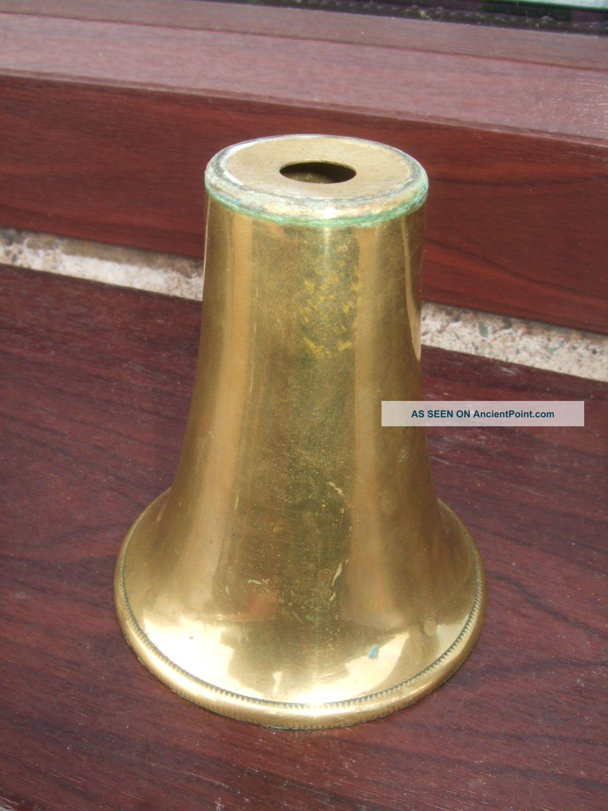 Brass Cone For An Oil Lamp Base 20th Century photo