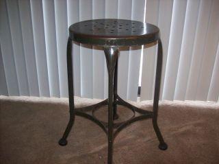 Uhl Steel? Toledo Metal Industrial Stool / Drafting Chair photo