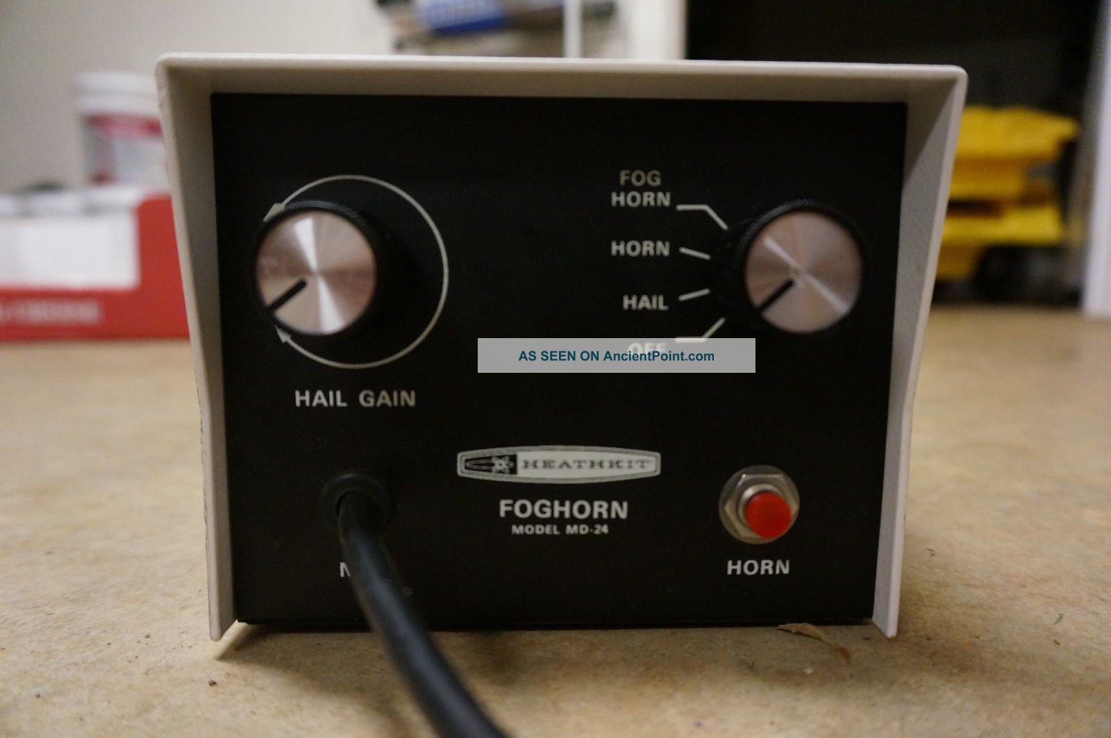 Heathkit Model Md - 24 Antique 30w Foghorn Hailer Horn With Microphone Other photo