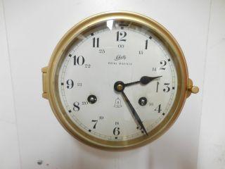Vintage Schatz Mariner 8 Days German Ships Clock Service Cond. photo