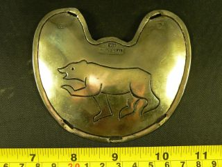 Trade Silver Pectoral Gorget Hb Ws Montreal Marks 1860 Engraved Bear photo