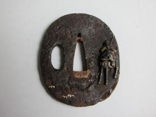 Antique Japanese Tsuba For Samurai Edo Rare photo