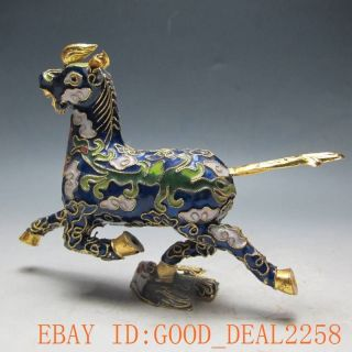 Chinese Enamel Hand - Made Horse And Swallow Statues /16 photo