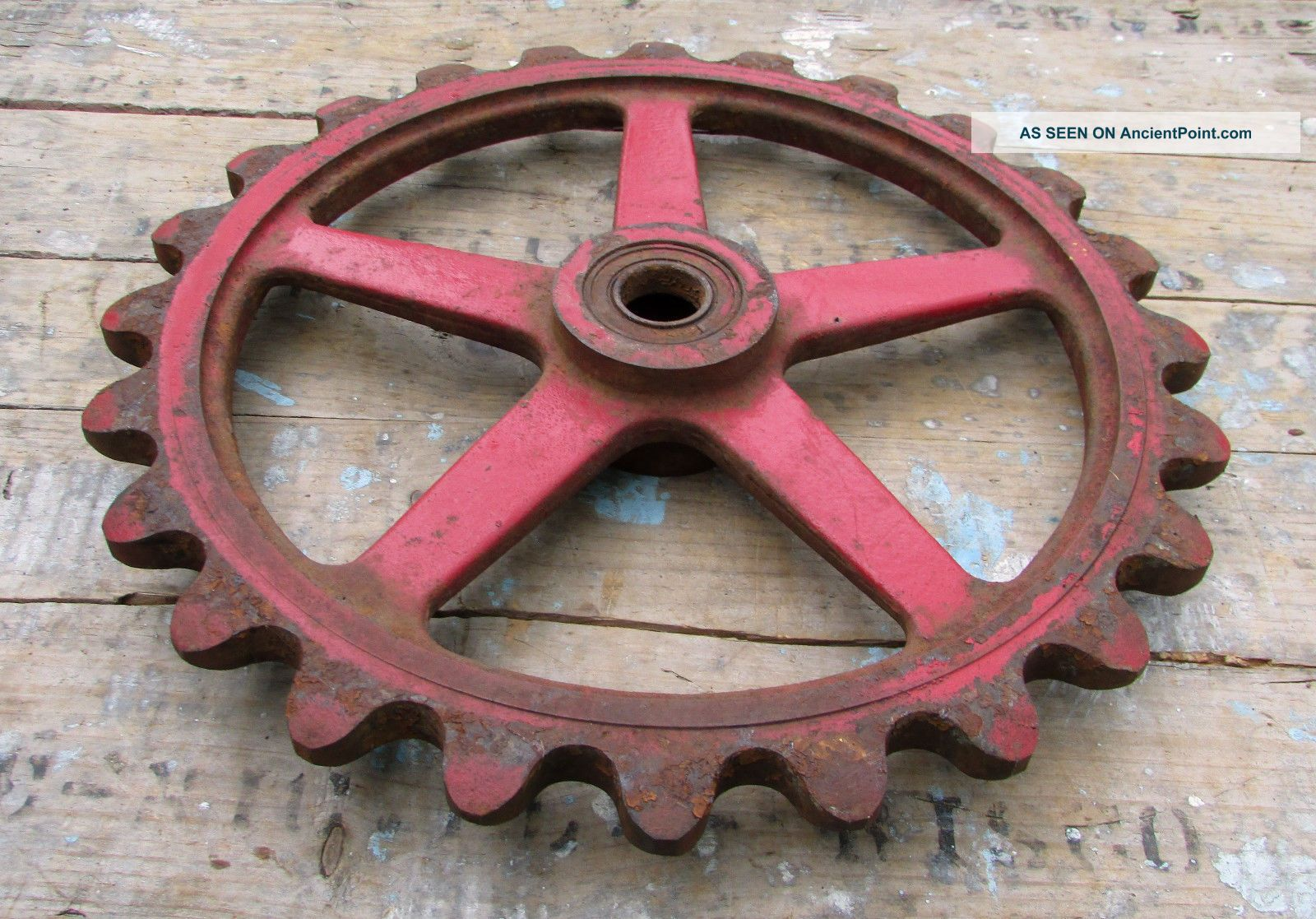Vintage Industrial Gear Cog Sprocket Metal Cast Iron Steampunk Gears Lamp Base Other photo