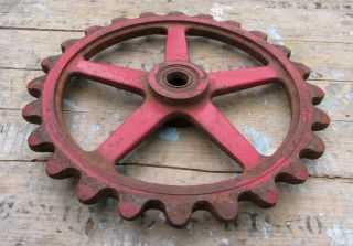 Vintage Industrial Gear Cog Sprocket Metal Cast Iron Steampunk Gears Lamp Base photo
