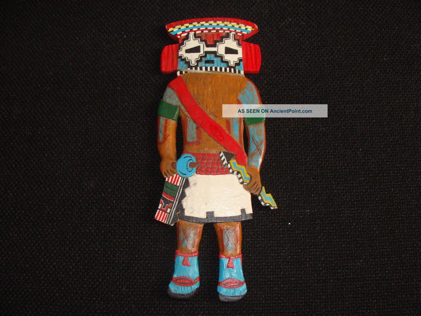 Vintage Hopi Native American Hand Carved Wood Hanging Kachina Katsina Doll Native American photo