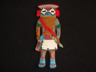 Vintage Hopi Native American Hand Carved Wood Hanging Kachina Katsina Doll photo