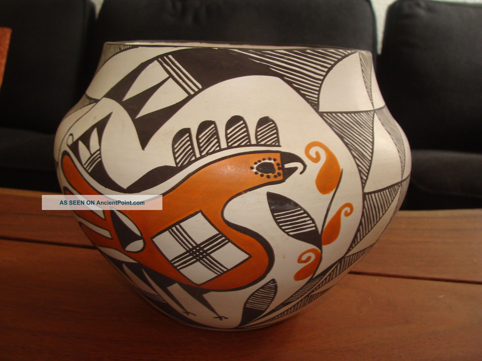 Lovely Large Hand Thrown Acoma Pueblo Signed H.  Antonia Olla Pot Native American photo