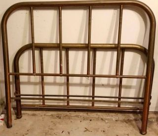 Antique Brass Bed Circa 1870 photo