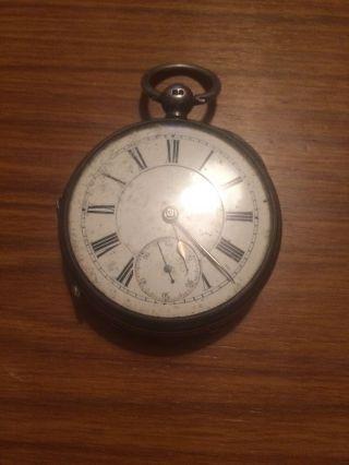 Silver Pocket Watch Birmingham 1899 photo