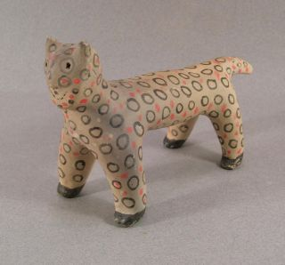 Old Vintage Native Am.  Tesuque Indian Pottery Animal Rain God Folk Art Figure photo