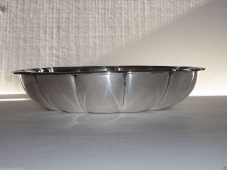Tiffany & Co Sterling Silver Large Serving Bowl Reeded Edge 925 - 1000 photo