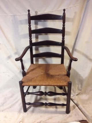 Chair Antique Windsor Rush Seat Ships $69 Greyhound,  C12pix4details & Make Offer photo