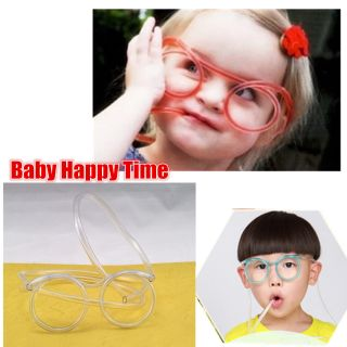 Drinking Straw Glasses Novelty Tube Joke Fun Children Ce Wdsz photo