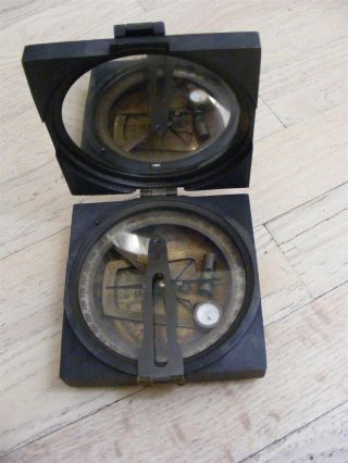 Aluminum & Brass Brunton Compass Kelvin & Hughes London 1917 photo
