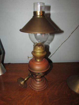 Sherwoods Ltd.  Marine Gimbaled Brass Cabin Oil Lamp.  England photo