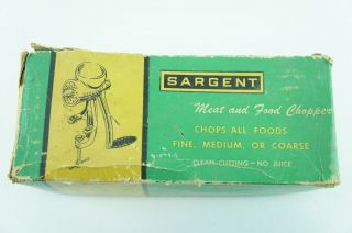 Vintage Sargent Meat And Food Chopper No 135 photo