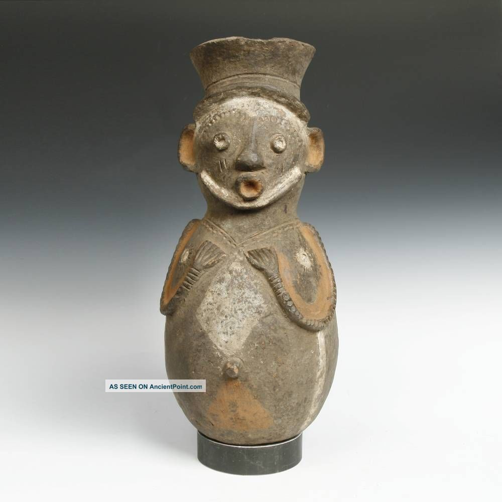 Vintage Terra Cotta Vessel Mamibila People Cameroon Tribal West Africa Sculptures & Statues photo