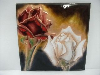 Cloisonne Ware.  Flower Of A Rose.  A Japanese Antique.  Ando Cloisonne Store. photo