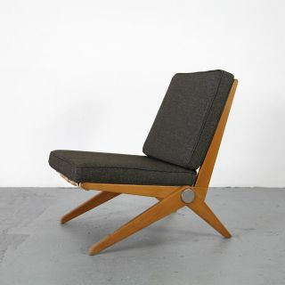 Scissor Chair By Pierre Jeanneret - Knoll International 50s | Mid Century Sessel photo