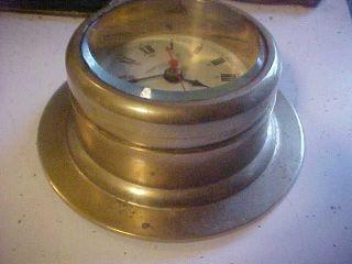 Vintage Emory & Douglas Co.  Ltd Quartz Brass Ships Clock photo