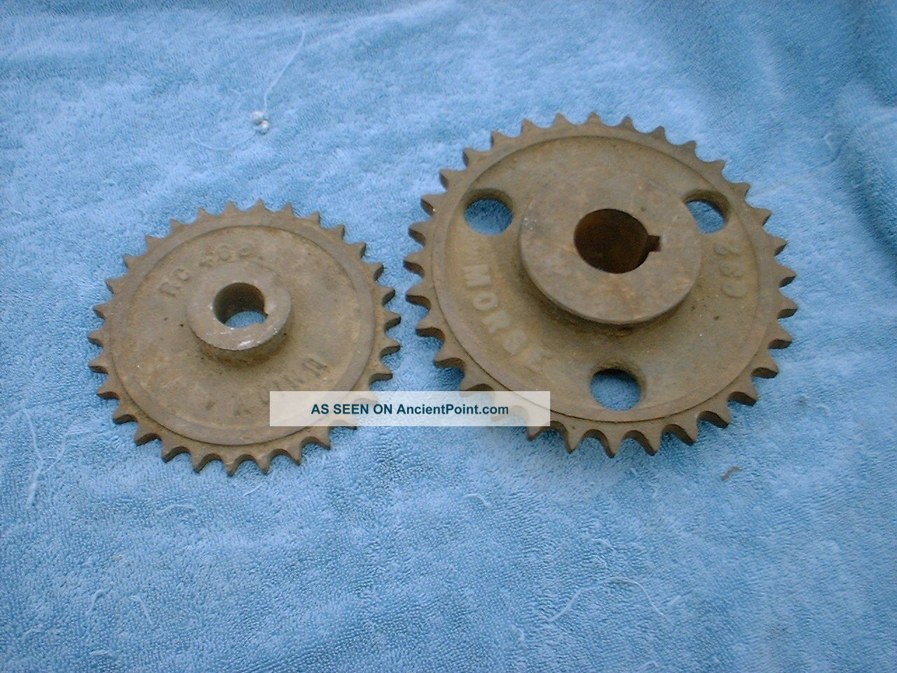 Vintage Cast Iron Industrial 2 Gear Sprockets Rustic Decor Steampunk Heavy Other photo