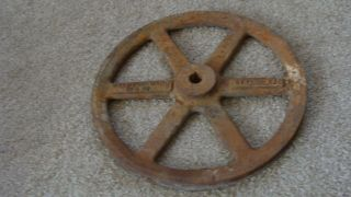Vintage Cast Iron Pulley Wheel 12