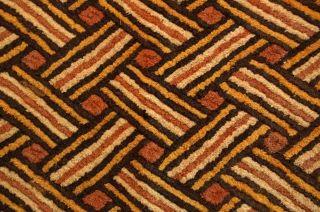 African – Kasai Velvet - Kuba Congo Shoowa Textile Geometric Tapestry photo
