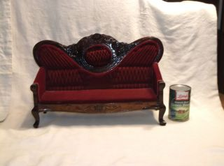 Salesman Sample Antique Victorian Couch/sofa/settee photo