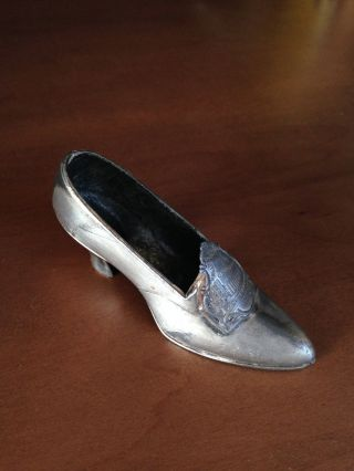 Vintage Pin Cushion Metal Shoe Jb 1451 Jennings Brothers Chicago Hall Of Science photo