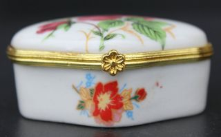 China Chinese Wu Cai Porcelain Rose Flower Jewel Case Jewelry Box photo