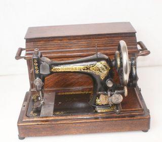 1911 Singer 28 (k) Antique Hand Crank Sewing Machine 128 27 127 photo