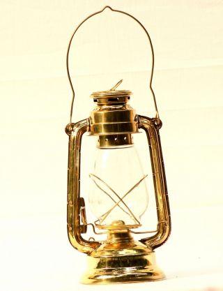 Navy Brass Lantern Ship Signal Highlight Kerosene Ship Lamp Nautical Marine photo