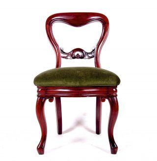 Antique Balloon Back Chair Swedish Walnut 19th Century Bedroom Dining Chair photo
