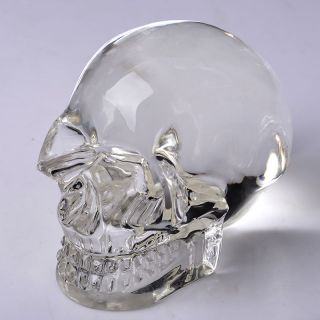 Chinese Natural Crystal Hand - Carved Skeleton Head Statue photo