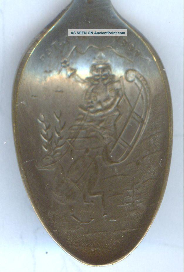 Silverplated 1899 Christmas & Years Ornate Demitasse Spoon Souvenir Spoons photo