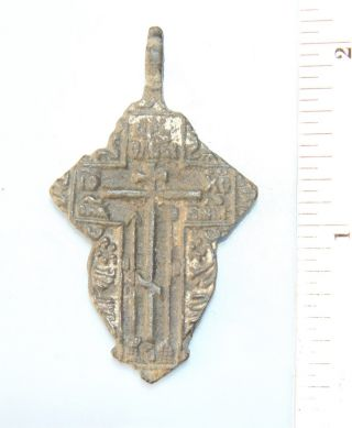 Ancient Old Believer Bronze Cross Female (ma23) photo
