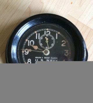 1942 Ww2 Mark I Boat Clock U.  S.  Navy Chelsea photo
