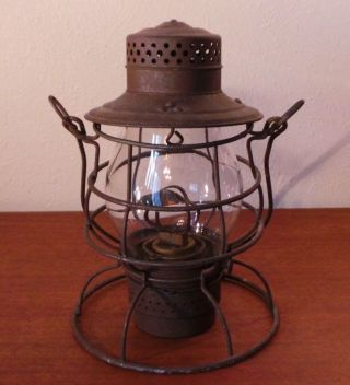 Antique Perkins Marine Lamp Corp Kerosene Railroad Lantern Brooklyn Ny Usa photo