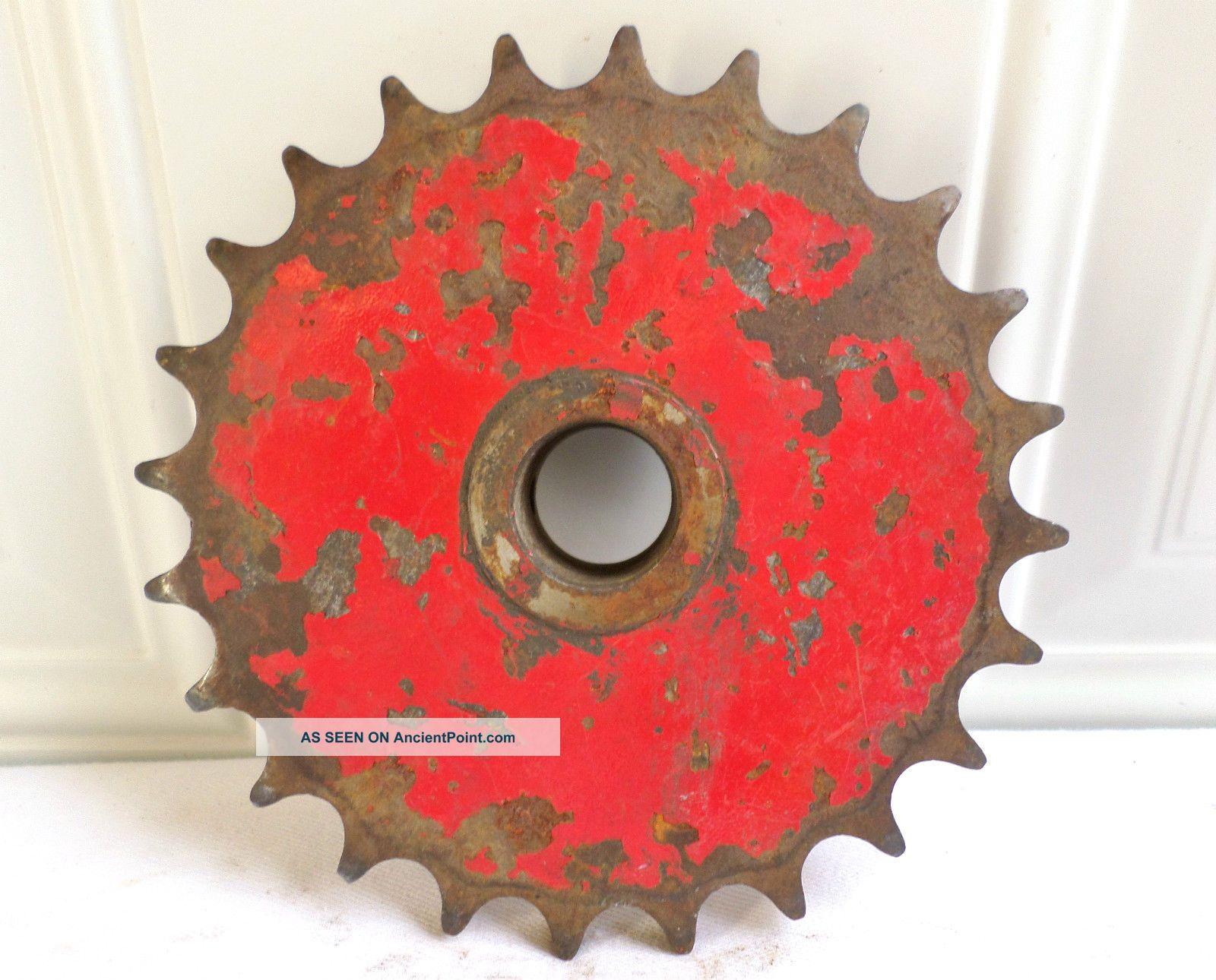 Antique Vintage Metal Industrial Gear Sprocket Cog Machine Age Garden Art Other photo
