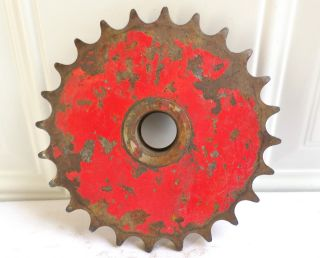 Antique Vintage Metal Industrial Gear Sprocket Cog Machine Age Garden Art photo