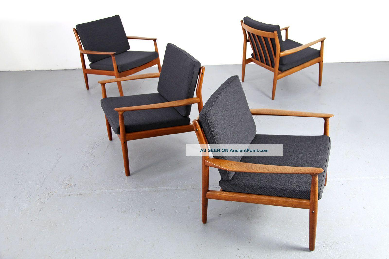 Mid Century Easy Chair By Grete Jalk Glostrup Danish Modern Teak
