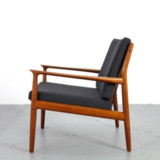Mid Century Easy Chair By Grete Jalk - Glostrup | Danish Modern Teak Sessel No.  2 photo
