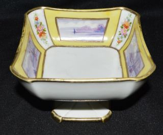 Vignette In Lavender Paneled Moriage Nippon Compote Or Candy Dish photo