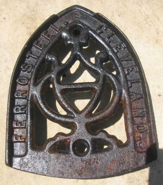 Vintage Ferrosteel Cleveland.  Sad Iron Trivet photo