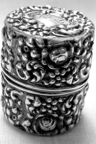 Unger Bros Art Nouveau Repousse Thread Spool Holder In Sterling Silver photo