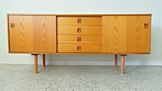 Mid Century Danish Modern Long Low 60 ' S Credenza Server Buffet Wegner Sibast photo